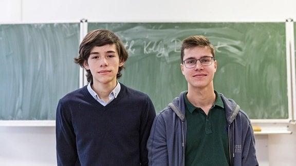 Radu Hempel und Maximilian Rosca, beides Abiturienten an der Deutschen Schule in Bukarest