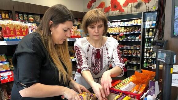 Frauen in einem Supermarkt
