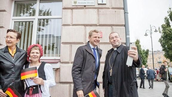 Eröffnung der Deutschen Straße im litauischen Vilnius - Rechte/Quelle Saulius Žiūra / Vilnius Stadtverwaltung