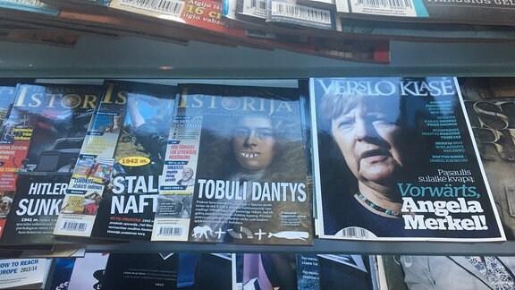 Kanzlerin Merkel auf Litauischem Magazincover