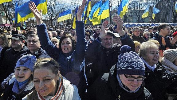 Anhänger von Petro Poroschenko