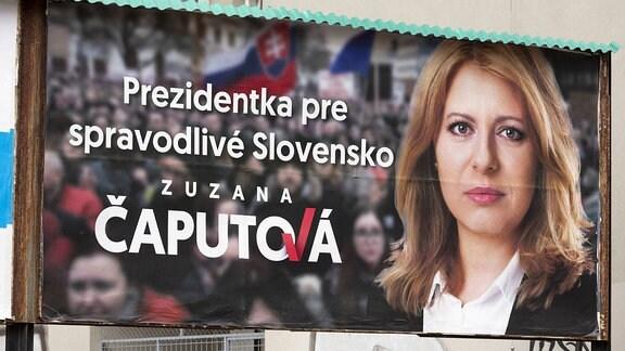 Wahlplakat Zuzana Čaputová