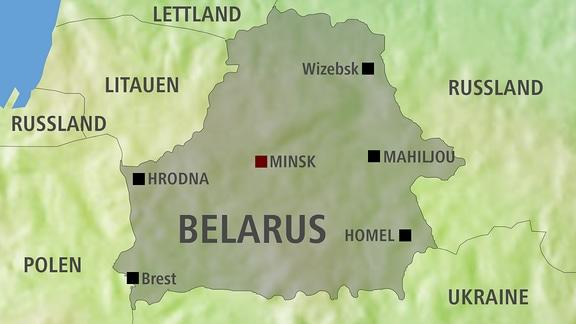 Karte Weißrussland