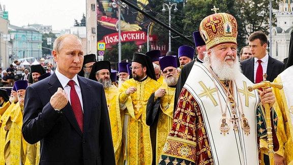 Wladimir Putin und Patriarch Kirill
