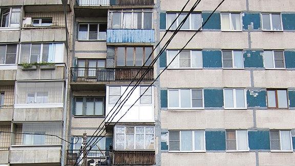 Russische Wohnhäuser
