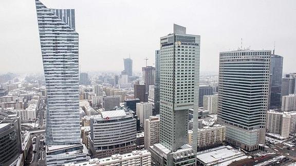 Wolkenkratzer in Warschau.