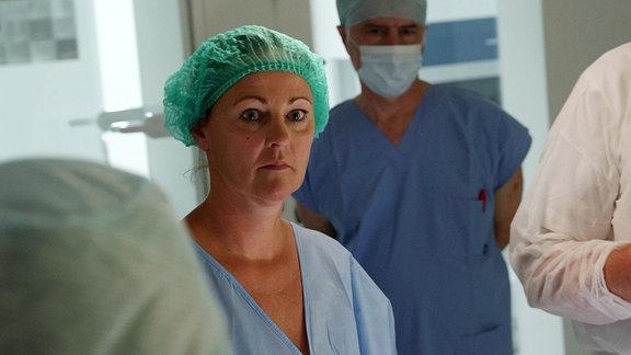 Nadine im OP, kurz vor der Entnahme ihrer Eizellen