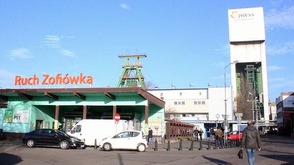 Gebäude einer Kohlemine in Polen.
