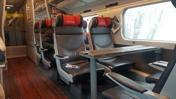Sitzplätze in einer Bahn