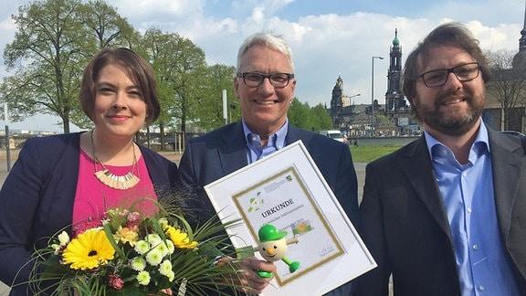 Kathrin Ruther, Georg Schmolz und Sven Jahny
