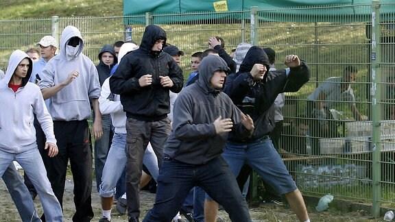 Gewaltbereite Hooligans