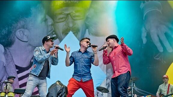 """Die deutsche Hip-Hop-Band """"Fettes Brot"""""""