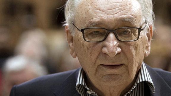 Der ehemalige Bundesminister für besondere Aufgaben und Bundesminister für wirtschaftliche Zusammenarbeit, Egon Bahr.