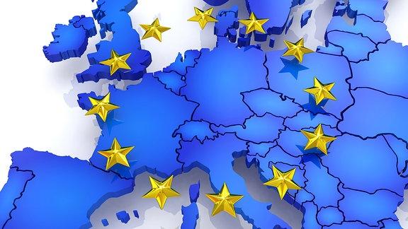 Dreidimensionale Karte von Europa