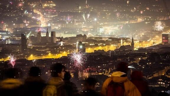 Feuerwerk in der Neujahrsnacht.