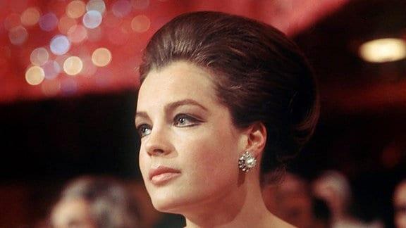 Die österreichische Schauspielerin Romy Schneider.