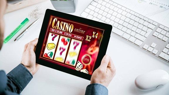 Online-Casino auf Tablet