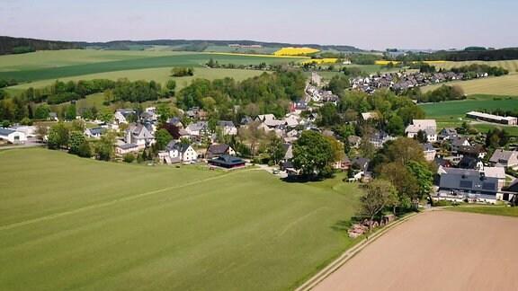 Luftbild von Hormersdorf