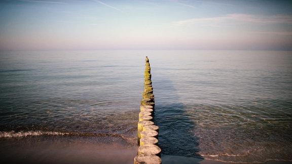 Blick vom Strand auf die Ostsee