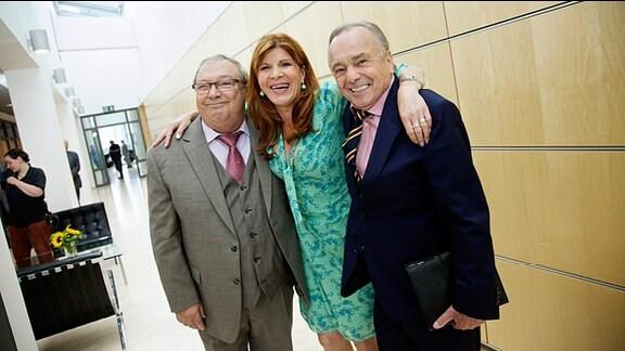 Jaecki Schwarz, Claudia Wenzel und Dieter Bellmann (v.l.n.r)