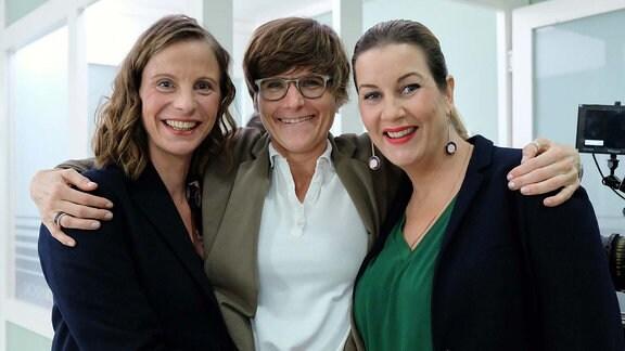 Frauenpower: Julia Jäger, Regisseurin Susanne Boeing, Alexa Maria Surholt