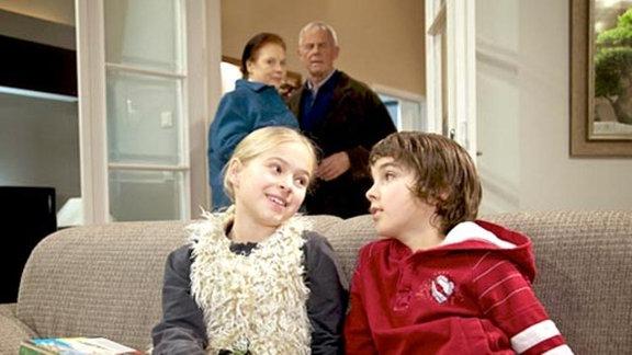 Charlotte Gauss und Otto Stein haben die Enkel zu Besuch