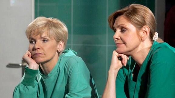 Yvonne Habermann und Kathrin Globisch nähern sich langsam wieder an.