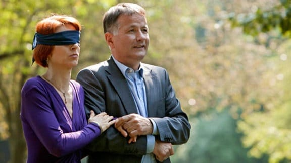 Roland Heilmann hat für seine Frau Pia eine Überraschung vorbereitet.