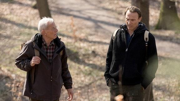 Otto und Martin Stein im Wald