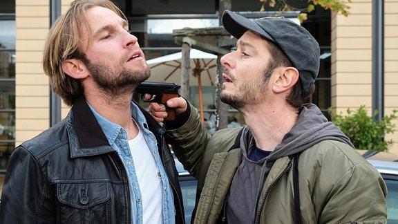 Jochen Matschke als Felix Sonntag und Michael Baral als Max Hellmann