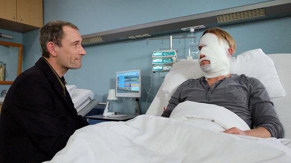 Heikko Deutschmann als Richard Noll und Jochen Matschke als Felix Sonntag
