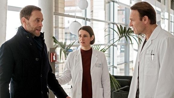 Dr. Hoffmann, Dr. Weber und Dr. Stein haben eine Auseinandersetzung