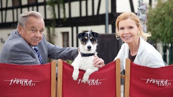 Dieter Bellmann (Prof. Gernot Simoni), Hund Hugo, Jutta Kammann (Oberschwester Ingrid Rischke).