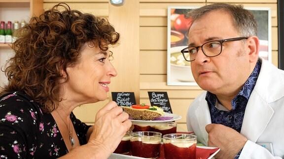 Linda Schneider (Isabel Varell) und Hans-Peter Brenner (Michael Trischan)