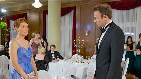 Pia Heilmann (Hendrikje Fitz) und Martin Stein (Bernhard Bettermann)