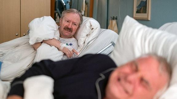 Gerhard Garbers als Berthold Schüller und Peter Rauch als Hans Dallwitz