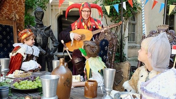 Mittelalterliche Geburtstagsparty.