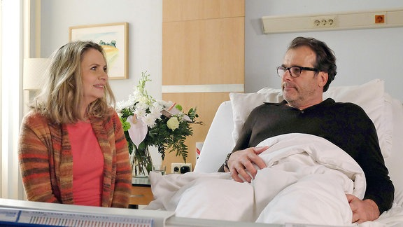 Annegret Michaels (Susanne Michel) und André Roth (Joachim Raaf)