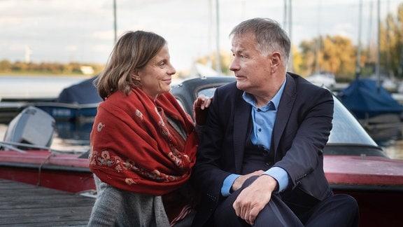 Julia Jäger als Katja Brückner und Thomas Rühmann als Roland Heilmann