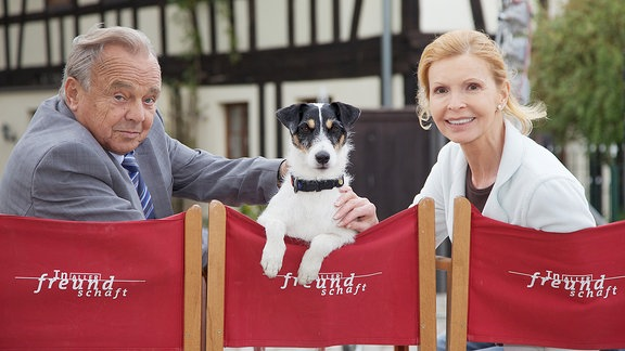 Dieter Bellmann, Hund Hugo und Jutta Kammann