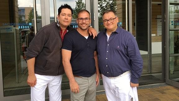 Thomas Koch, Gewinner Nico und Michael Trischan von der Sachsenklinik