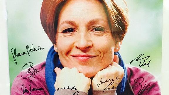 Ein Abend für Hendrikje Fitz: Plakat mit Unterschriften