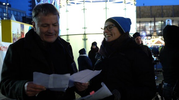 Thomas Rühmann und Regisseurin Frauke Thielecke 811