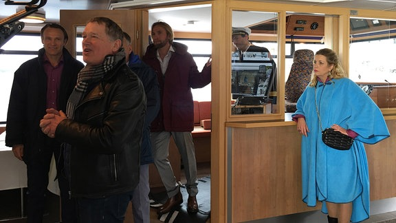 Regieanweisungen der Aufprall-Szene der Folge 781 auf dem Schiff mit Regisseur John Delbridge_2
