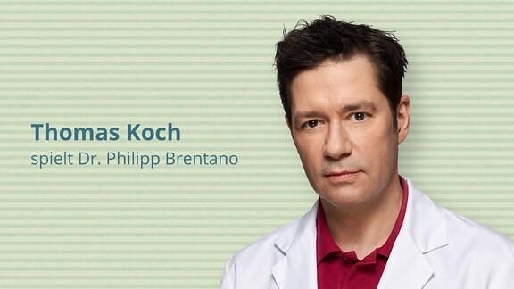 Thomas Koch spielt Oberarzt und Leiter der Endoprothetik, Dr. Philipp Brentano