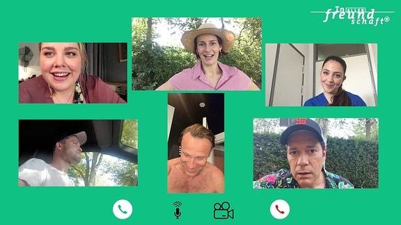 """Schauspieler aus """"In aller Freundschaft"""" im Videocall"""