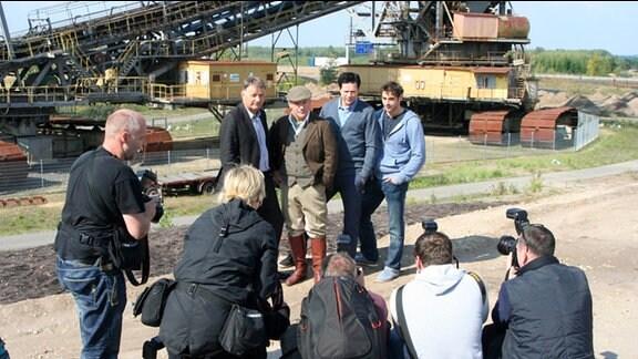 """Presse- und Fototermin zum """"In aller Freundschaft""""- Serienspecial """"Verzweifelte Entscheidung"""" Bergbau-Technik-Park."""