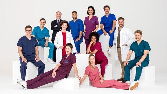 Das Team von ''In aller Freundschaft - Die jungen Ärzte''.
