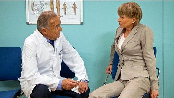 Prof. Simoni mit Margitta Hartwig