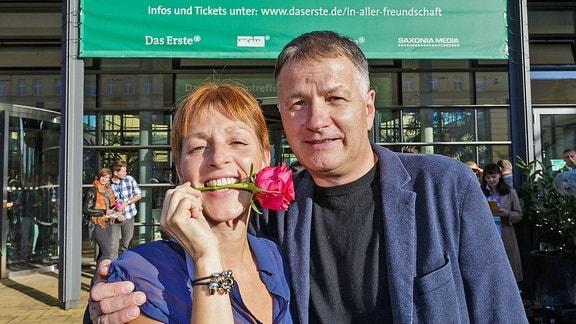 Hendrikje Fritz und Thomas Rühmann beim Fantreffen